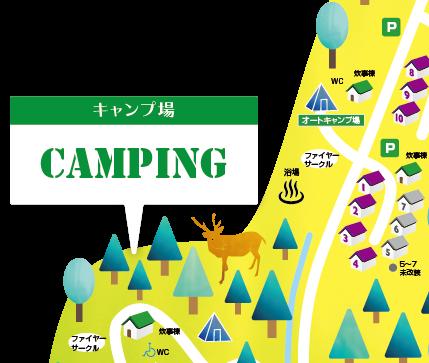 オートキャンプ場所