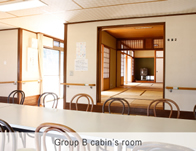Group B cabin's room